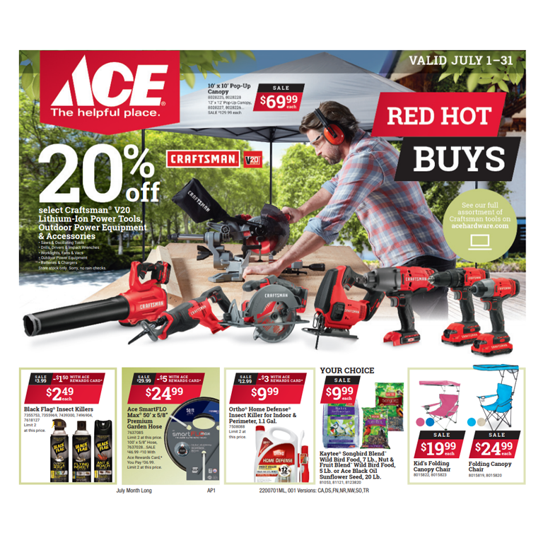 Ace Hardware Red Hot Buys_July