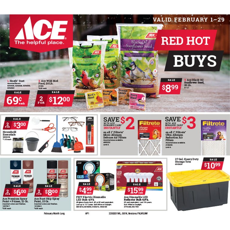 Ace Hardware Red Hot Buys February 2020