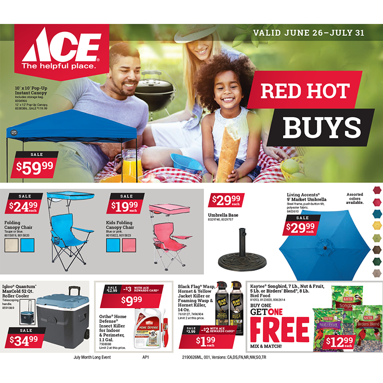 Ace Hardware Red Hot Buys