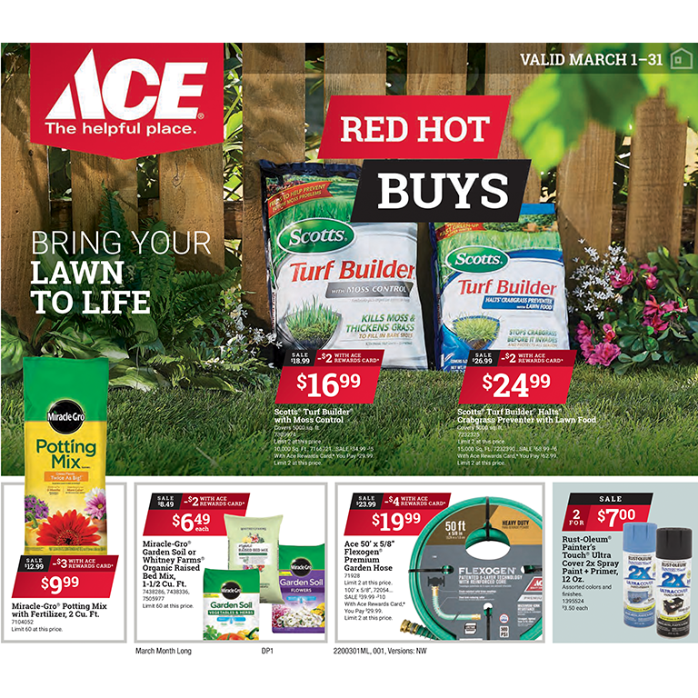 Ace Hardware Red Hot Buys March 2020