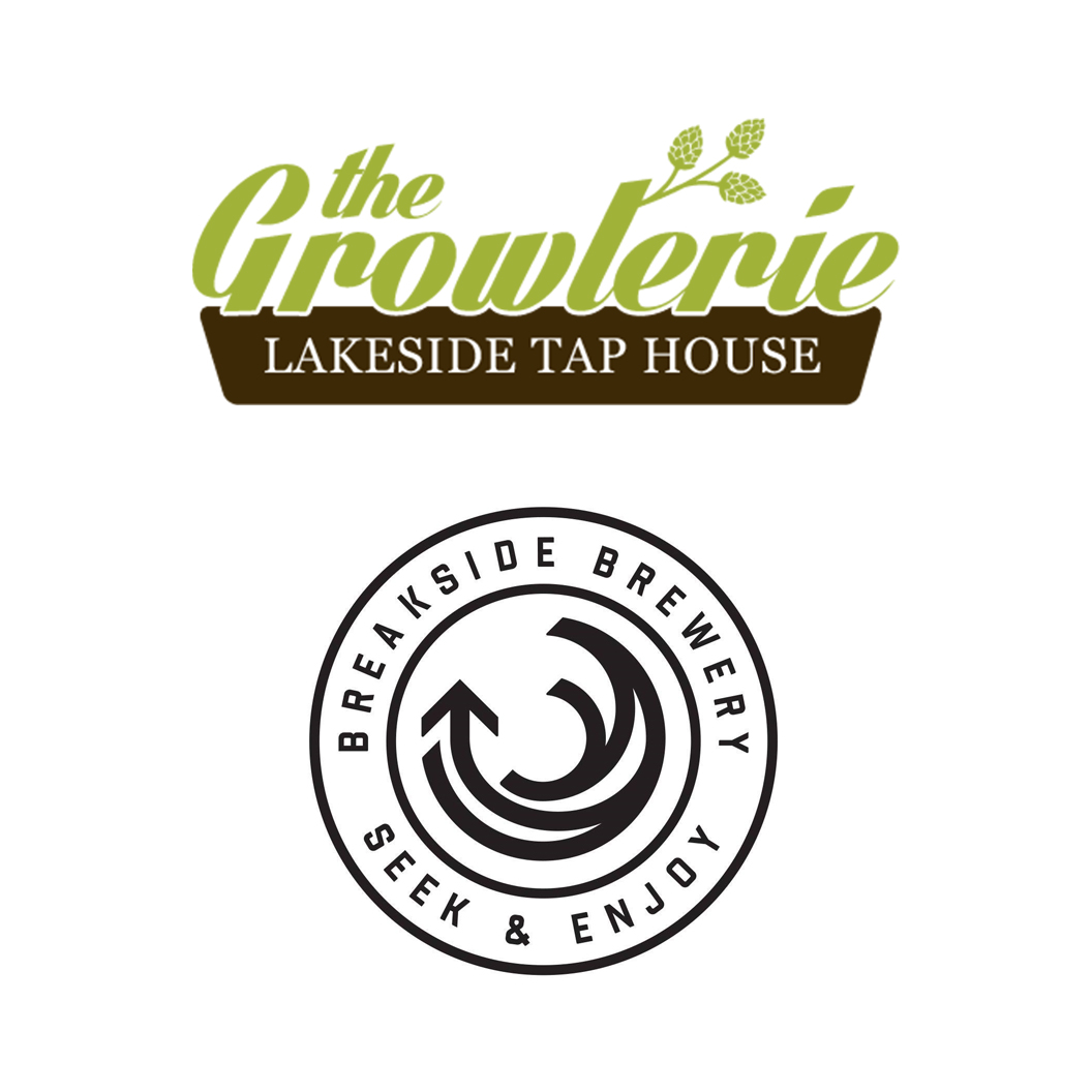The Growlerie and Breakside brewing logos