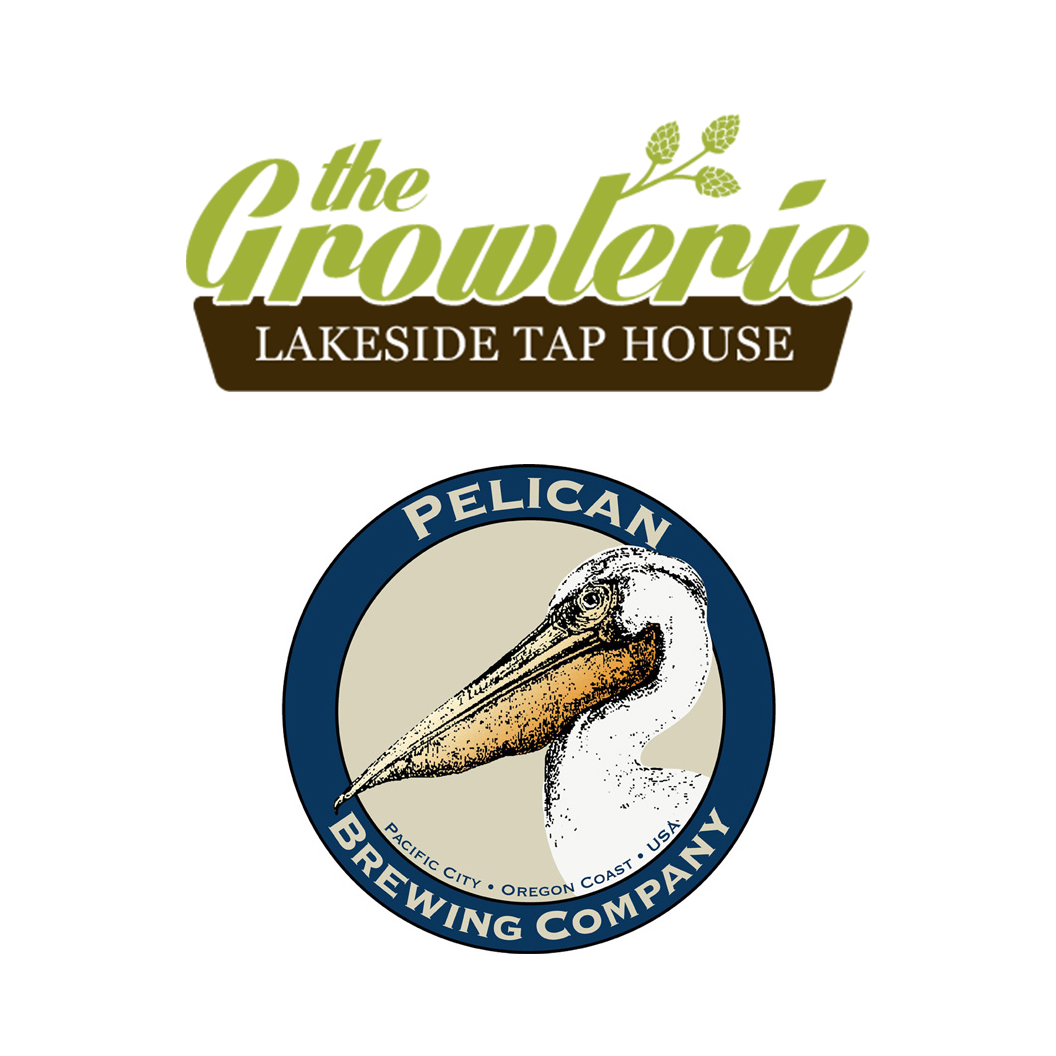 The Growlerie & Pelican Brewing logos