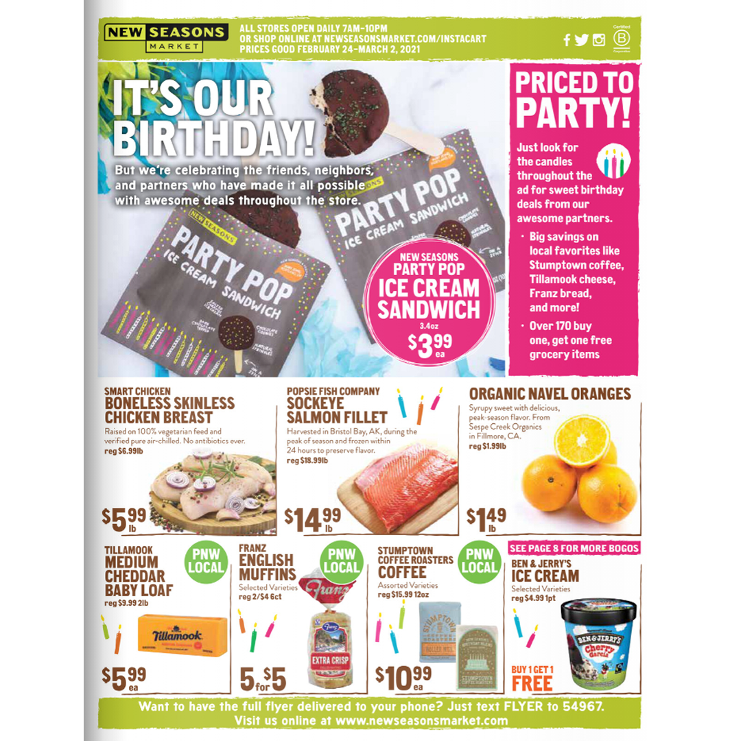 New Seasons Market Flyer valid Feb 24 - March 2