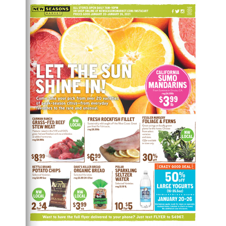 New Seasons Market Flyer valid January 20-26