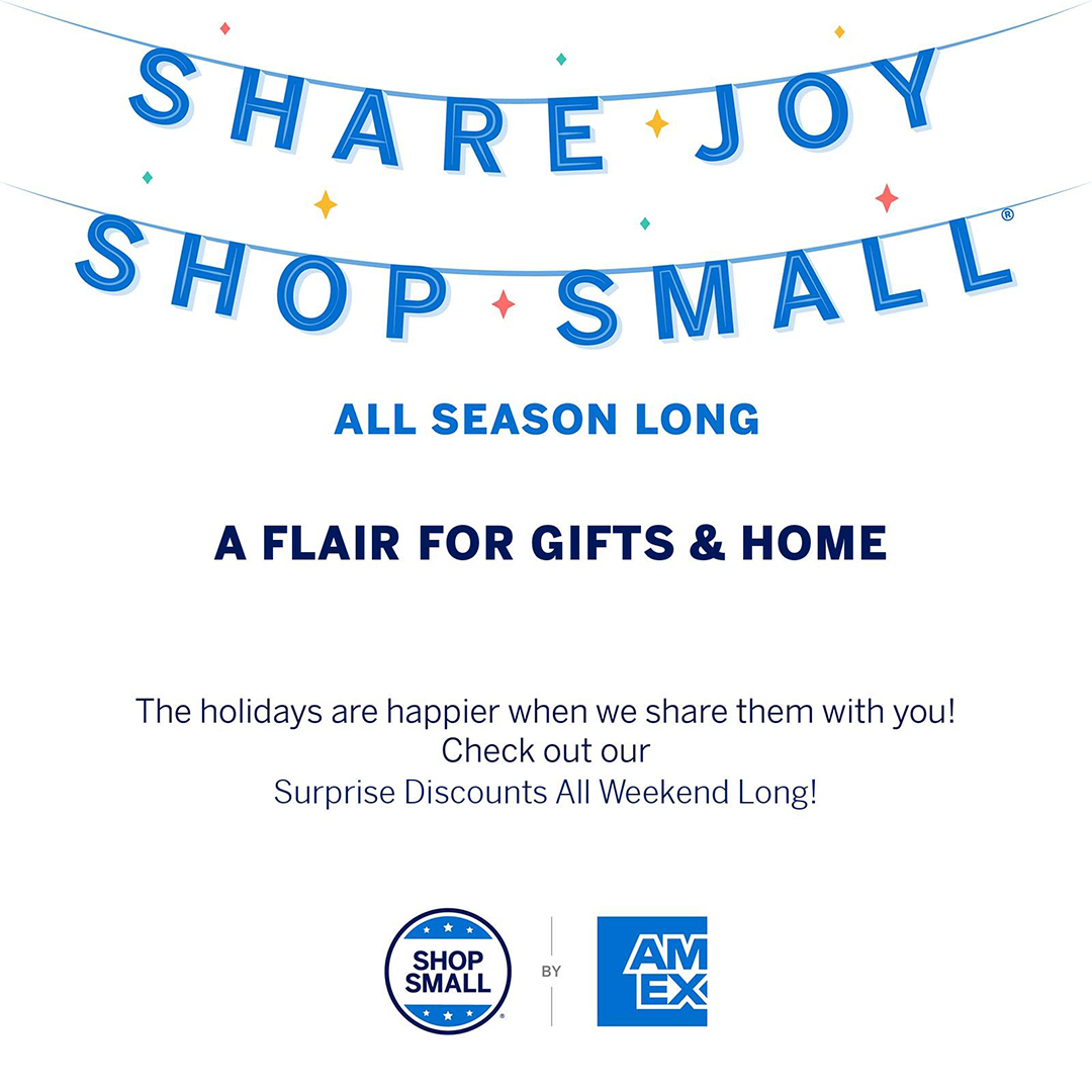 A Flair for Gifts & Home - Small Business Saturday
