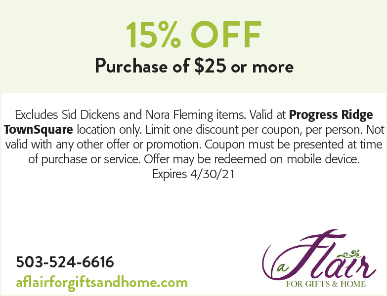 A Flair for Gifts & Home - 15% off purchase of $25 or more coupon