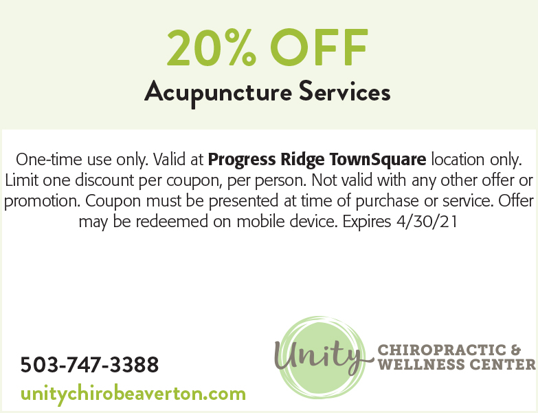 Unity Chiropractic & Wellness Center coupon