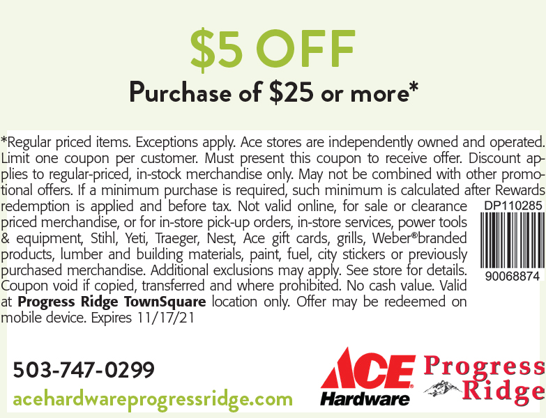 Ace Hardware online coupon