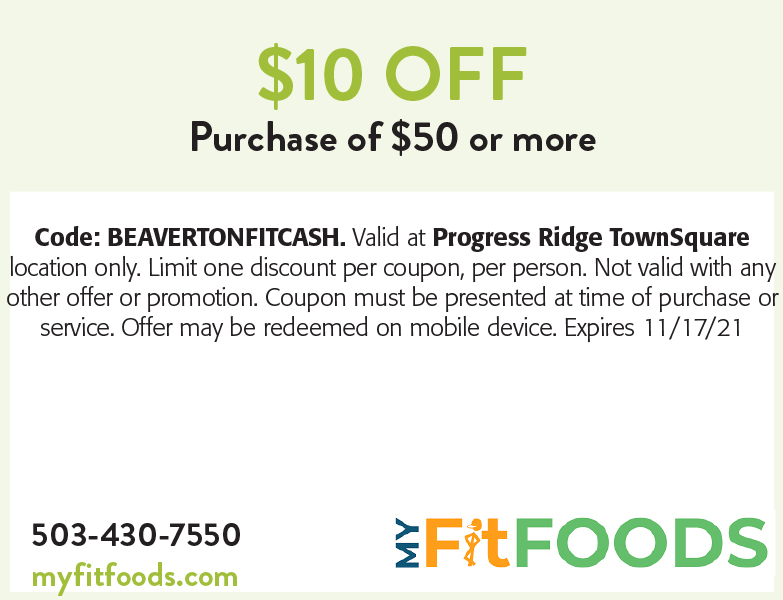 My Fit Foods online coupon